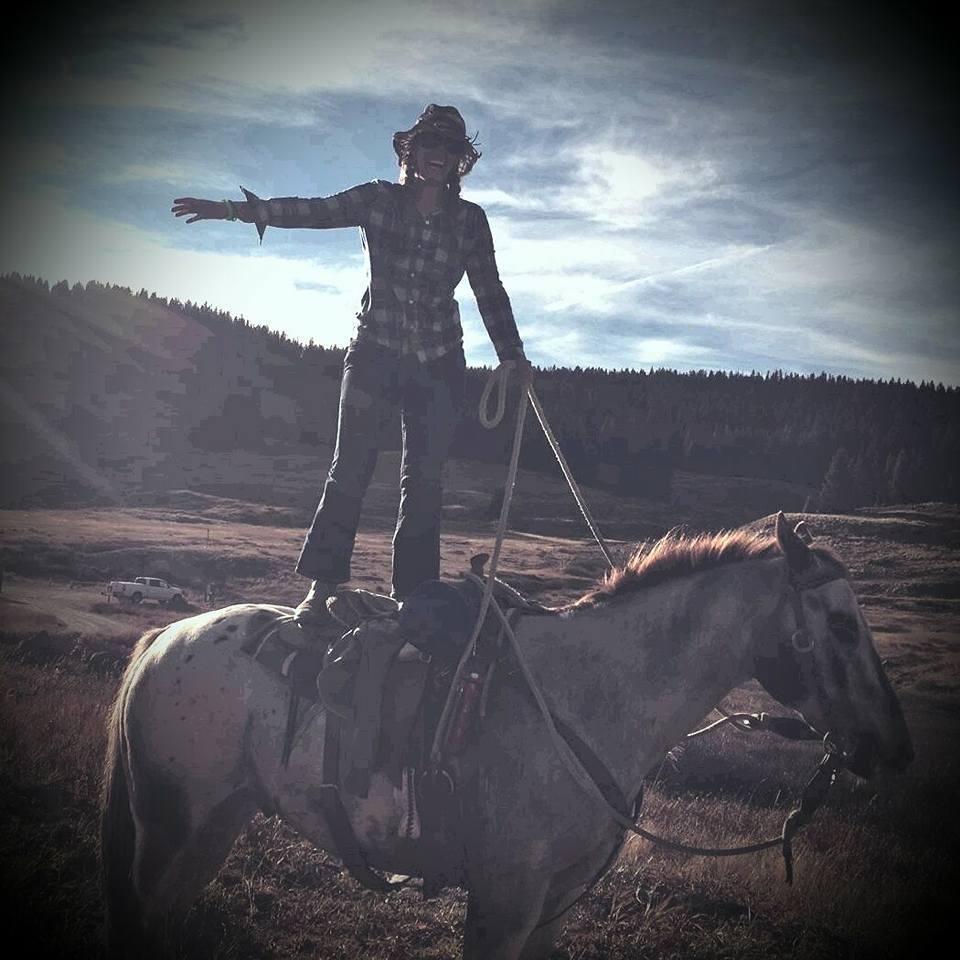 Alice on her horse