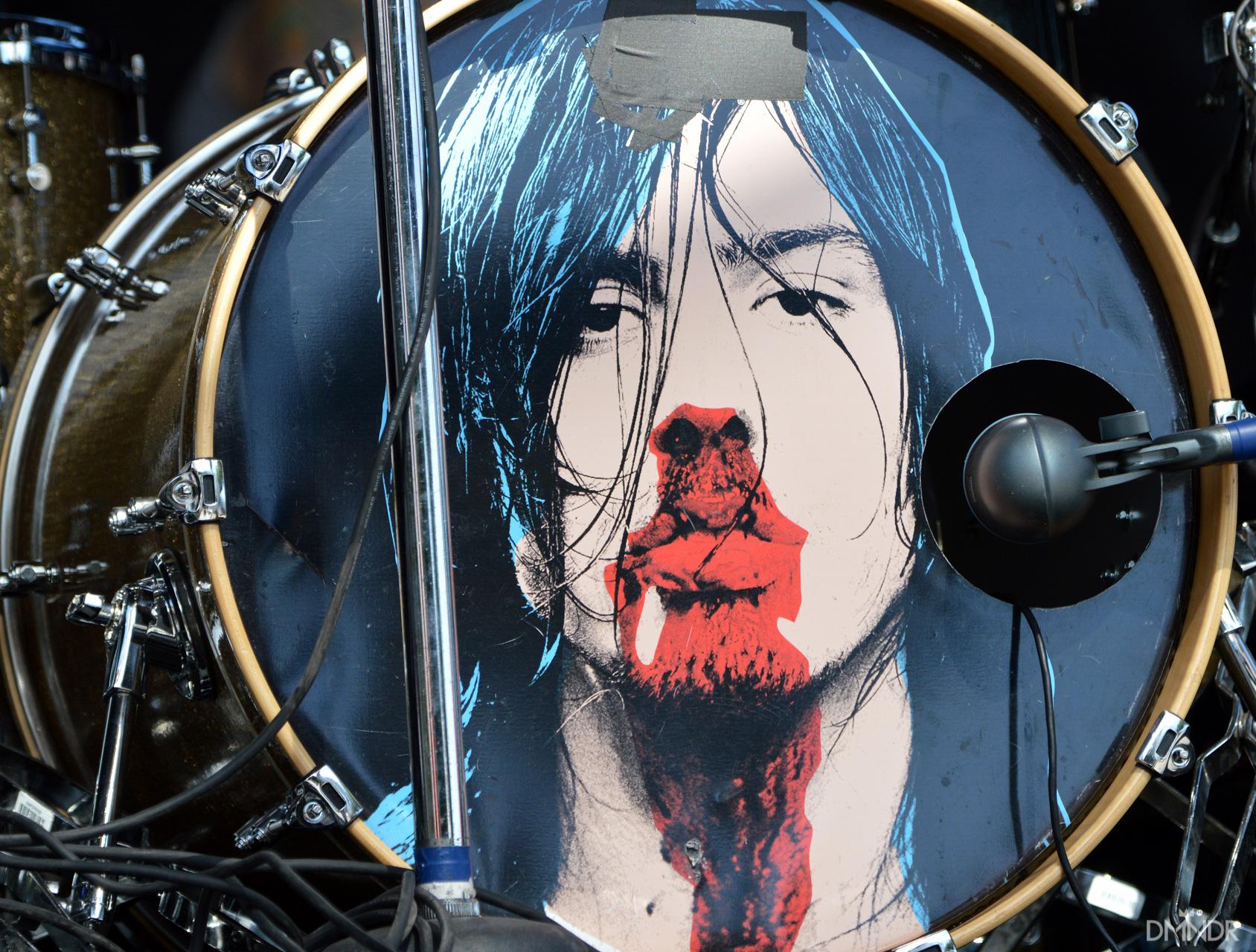 Andrew W.K. drum head