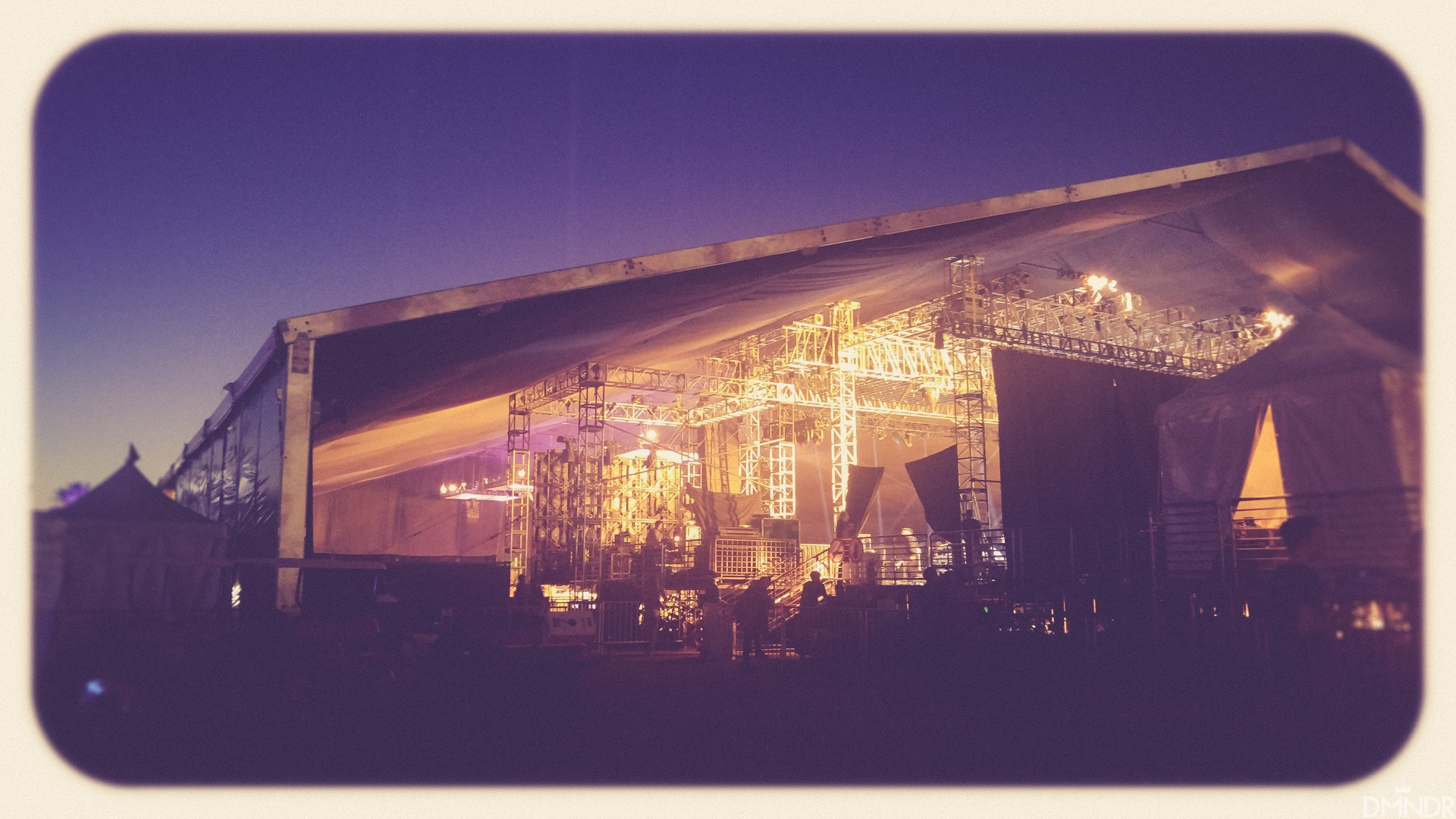 Approaching Mojave Stage prior to performance Coachella Backstage
