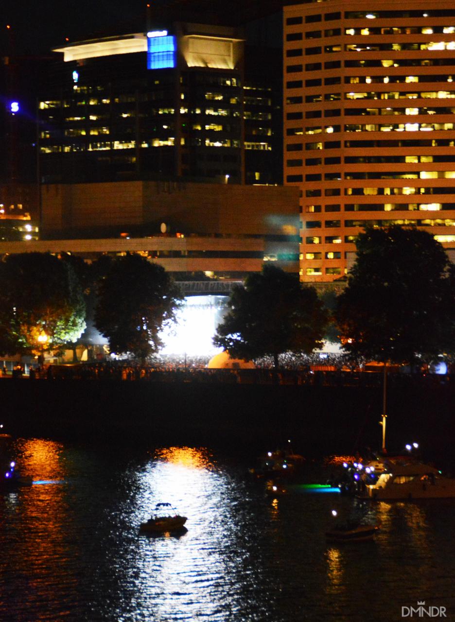 Duran Duran night water view