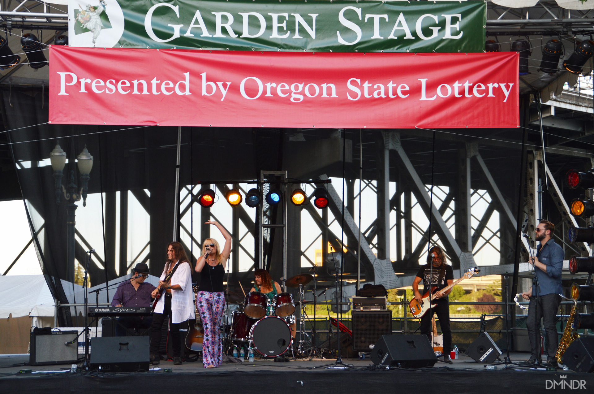 Michelle DeCourcy and the Rocktarts erforming at the Bite of Oregon on the Garden Stage