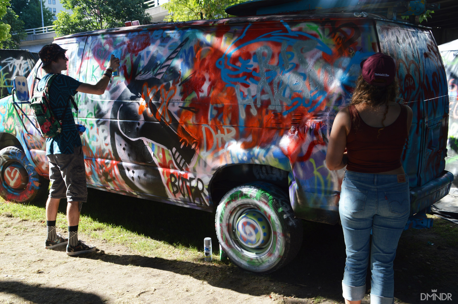 The Art Van and taggers