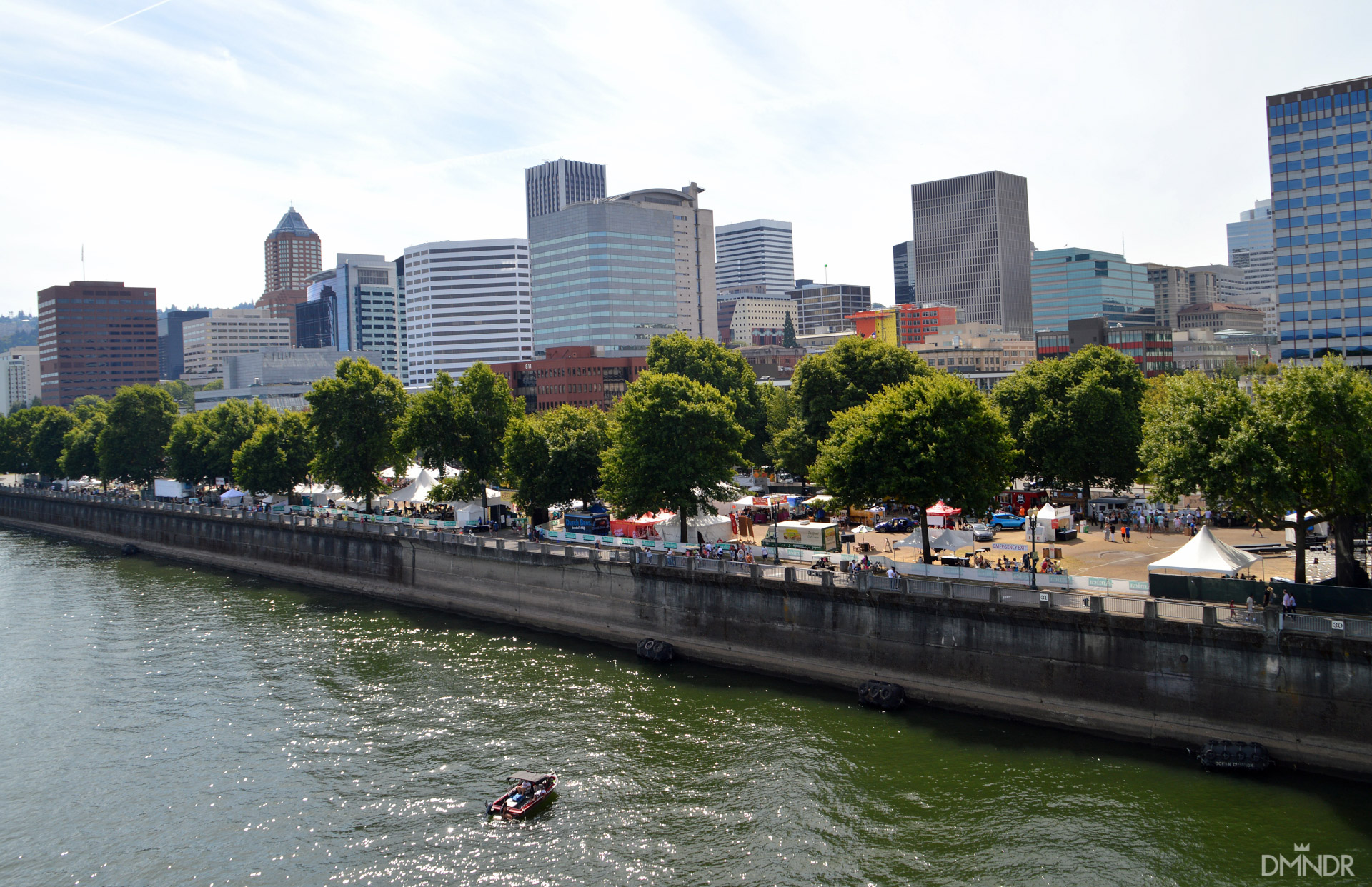 The Bite of Oregon from the Morrison Bridge on the Willamette River in downtown Portland